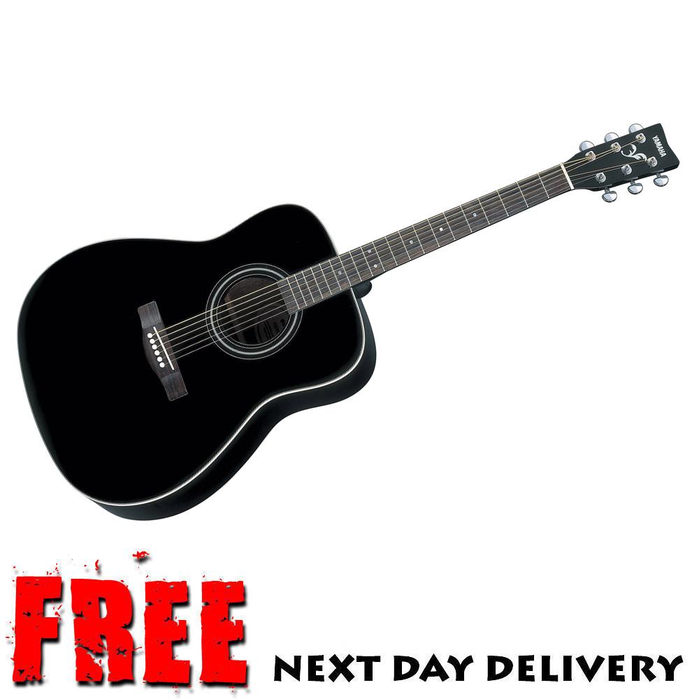 B stock yamaha f370 acoustic guitar black spruce top steel for Yamaha acoustic guitar ebay